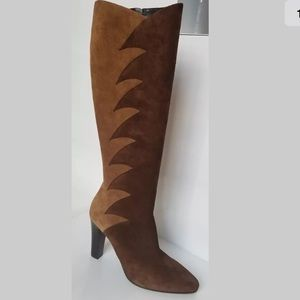 YSL tall suede boots 